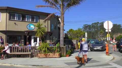 SANTA CRUZ, CA, USA - 30 APRIL 2017: Unidentified people in Santa Cruz, California, USA.