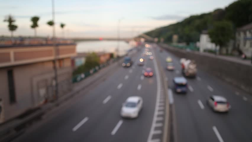 Road, cars, blurred background, bokeh, | Shutterstock HD Video #27195781