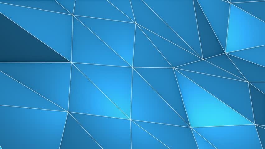 Elegant Polygonal Surface Triangular Polygons with Outlines Mesh of Triangles Low Poly Waves on a Plane Seamless Looping Motion Background Pleasant Blue | Shutterstock HD Video #27203521