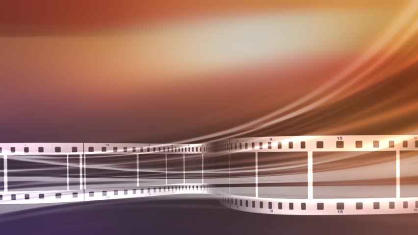 Film Strips Running Across Frame With Reels In Background ...