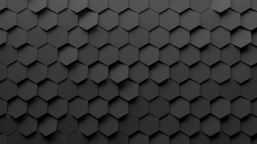 Abstract Hexagon Geometry Background 3d Stock Footage