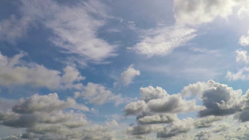 Time lapse sky with white clouds and the wind in the daytime. | Shutterstock HD Video #27282931