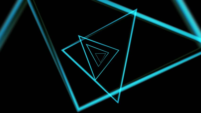 Abstract CGI motion graphics and animated background with blue triangles