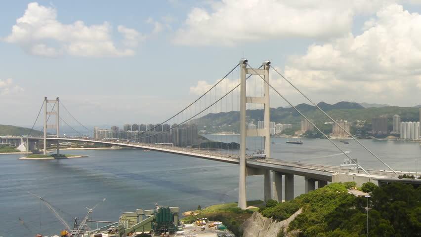 Tsing Ma Bridge at Summer - Tsing Ma Bridge is a bridge in Hong Kong. It is the
