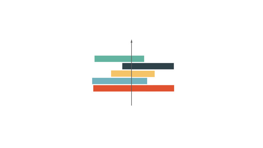 Infographics Motion design - graphs, diagrams, histograms transforming into each other. Loop animation with alpha channel. #27462451