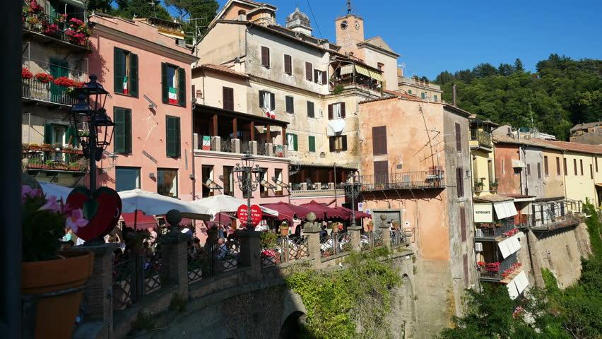 Nemi, Italy - June 2017: Panoramic view ot the village