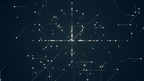 Abstract Network Background. This is abstract technological animation of futuristic grid. Perfect for any type of videos dealing with scientific festivals,  hi-tech projects, sci-fi movies.
