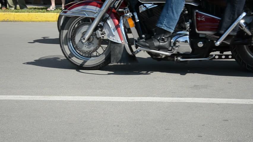 bikers motorcycle in the city street