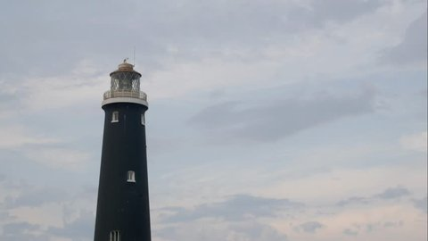 Old disused lighthouse timelapse at Dungeness, Romney Marsh.