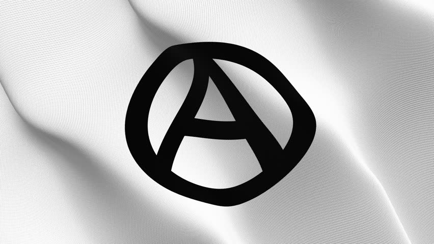 Stock Video Of Anarchy Logo Symbol Flag Waving Seamless 27612331