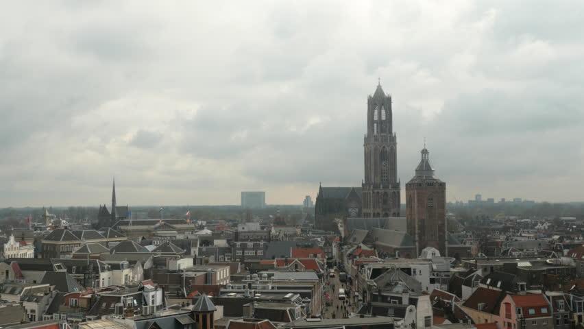 Timelapse shot of Utrecht City Center with Dom and Buurkerk | Shutterstock HD Video #27649294