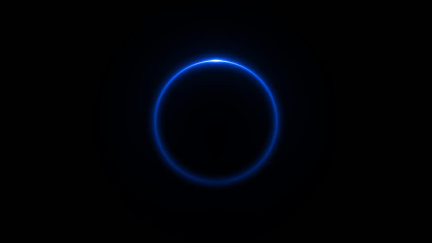 4k Loading Circle loop 29.97 fps on Black background