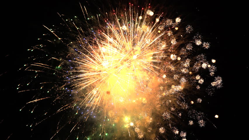 The fireworks in the night sky | Shutterstock HD Video #27665791