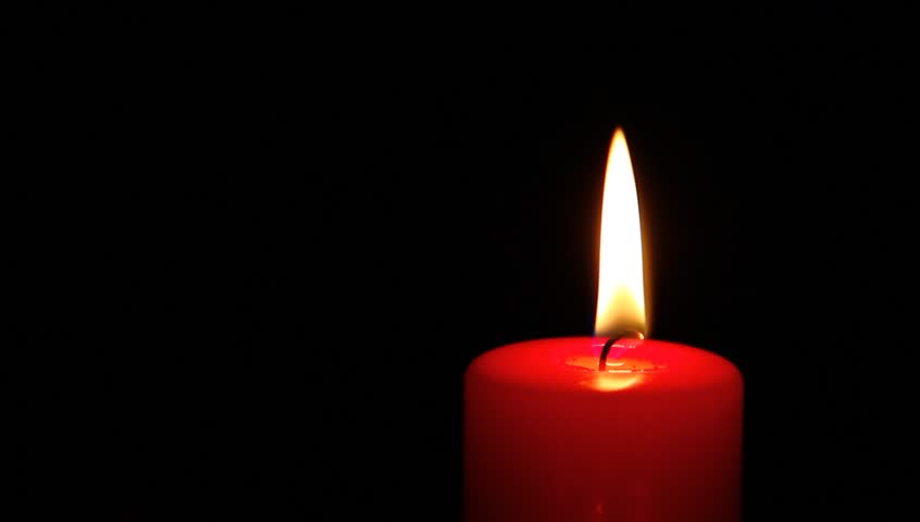 Single Red Candle In The Dark Hd Stock Footage Clip
