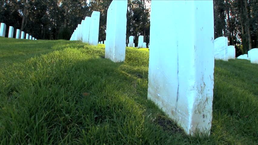 War memorial headstones in San Francisco USA
