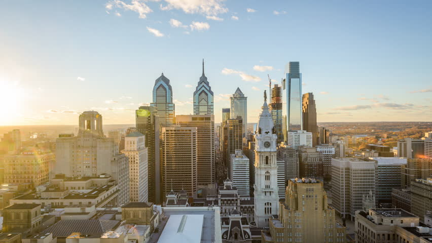 Philadelphia, Pennsylvania, USA downtown skyline. | Shutterstock HD Video #27745201