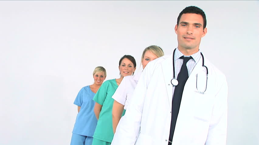 Young medical staff ready to treat patients