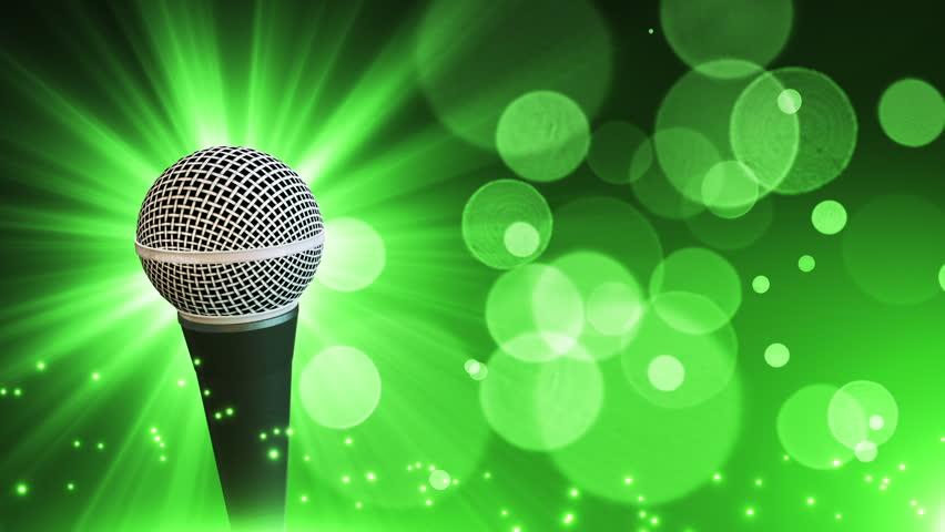 Микрофон открытка