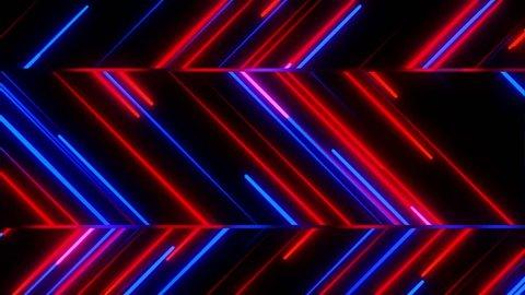 Metro Light Streaks Seamless Looping Motion Background Video Background Loop 4K Zig Zag Red Blue
