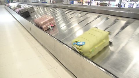 Baggage claim in the terminal at the airport of Thailand.