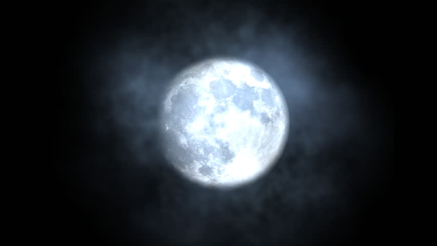 Halloween animation of bats with moon background.
