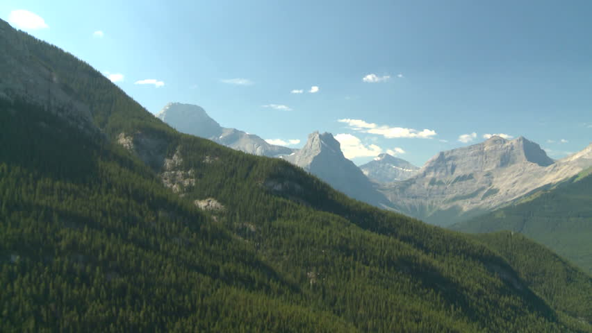 aerial Rocky Mountains (HD 1920x1080 60i) #280051