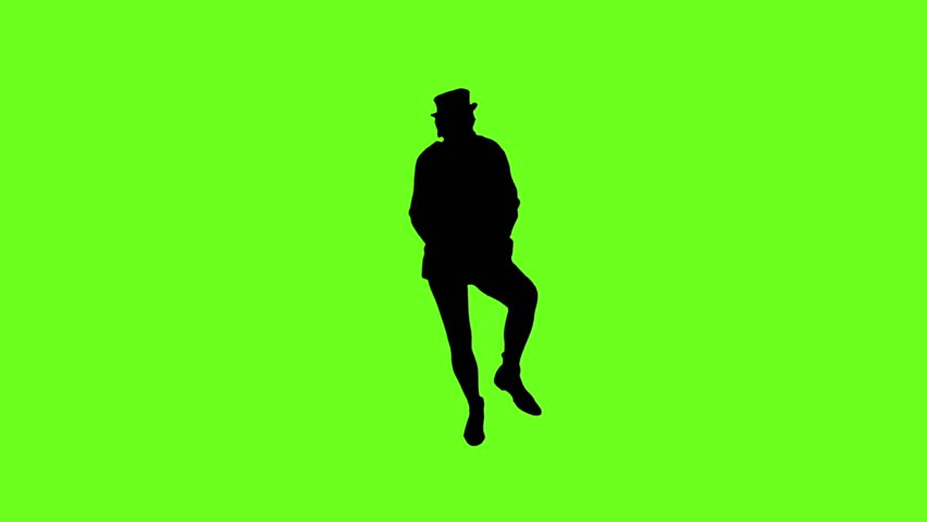 Female hip hop dancer silhouette on green background alpha cheerful drunk man wearing the hat is dancing funny on the green screen miniature the voltagebd Image collections