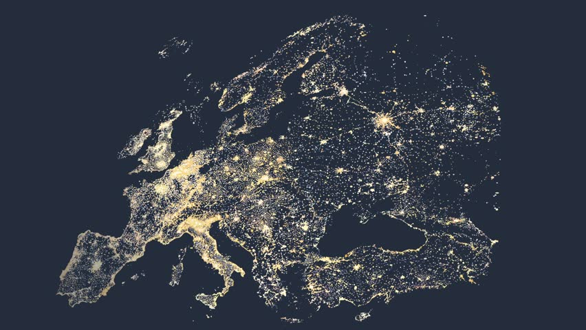 Network lines lighting up world map 4k black and white version europe map reveals from soft dark gradient to bright city lights hd stock footage clip gumiabroncs Image collections