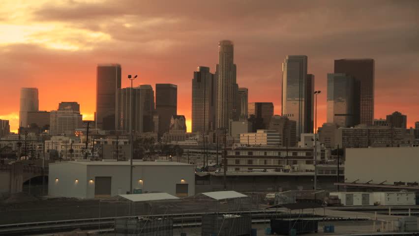 Skyscraper Sunrise in Big City Downtown Time lapse   Shutterstock HD Video #2808451