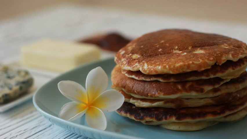 Making homemade pancakes on frying pan hd 1920x1080 stock food pancake maple syrup pouring onto stack of pancakes making pumpkin pancakes on frying pan ccuart Choice Image