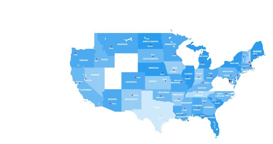 United States map animation