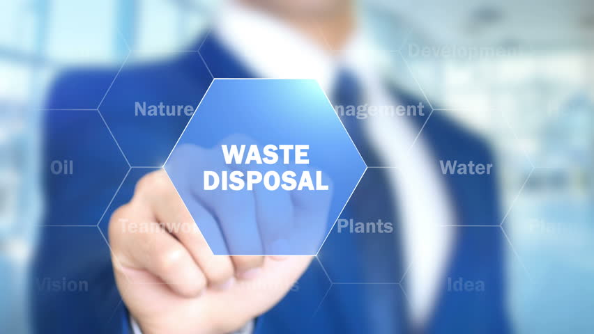 Waste Disposal, Man Working on Holographic Interface, Visual Screen | Shutterstock HD Video #28203451