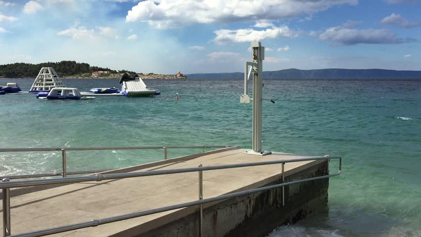 Stock video of makarska, croatia - 17 june,2017: lifting | 28996165 ...