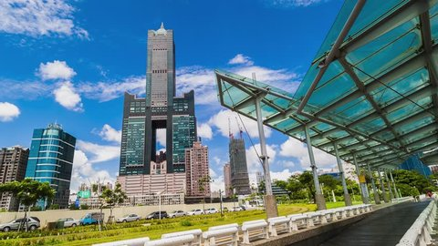 KAOHSIUNG, TAIWAN, 11 MAY 2017: Southern located in Taiwan, is a port city, has developed rapidly in recent years, many foreign visitors have come to play and 11 MAY 2017 in Kaohsiung.