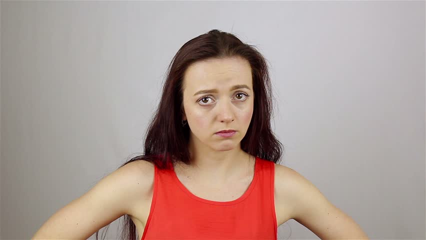Portrait of a young woman. A gesture of failure | Shutterstock HD Video #28278211