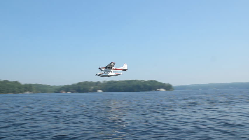 Seaplane flyby.