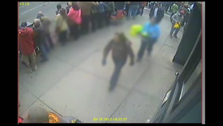 2010s: FBI surveillance video from the Boston marathon bombings.