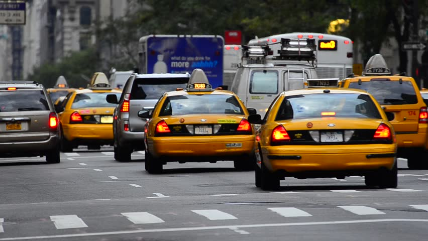 USA, New York, 5th Avenue, rush hour traffic, Taxis | Shutterstock HD Video #28422721