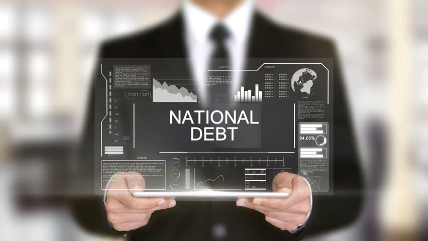 National Debt, Hologram Futuristic Interface, Augmented Virtual Reality | Shutterstock HD Video #28459141