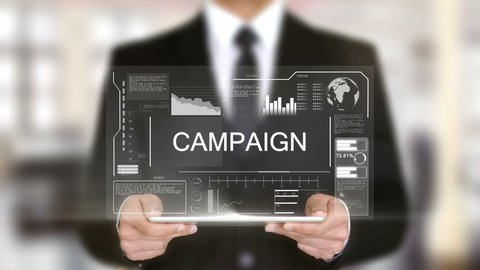 Campaign, Hologram Futuristic Interface, Augmented Virtual Reality