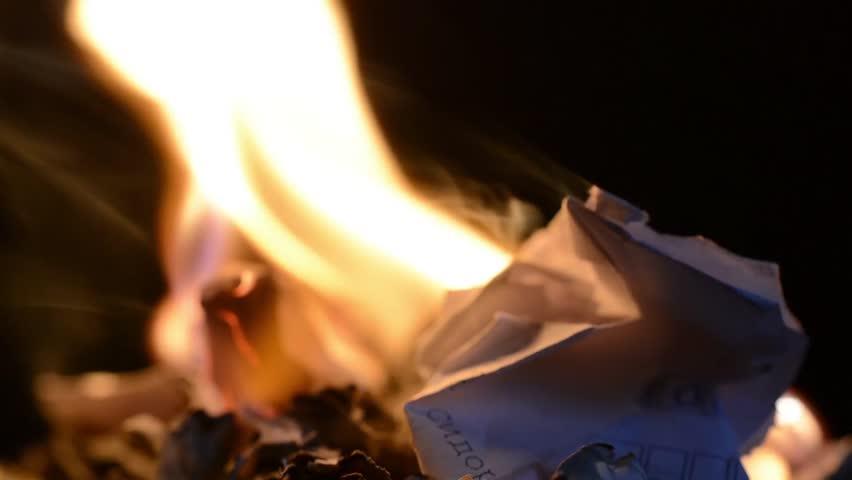 burning paper macro #28545601