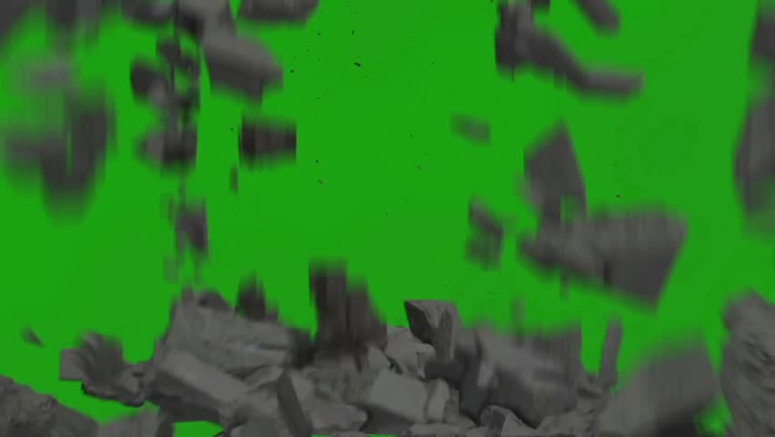 Destruction Falling Rocks Debris Close Stock Footage Video (100%  Royalty-free) 28563361 | Shutterstock