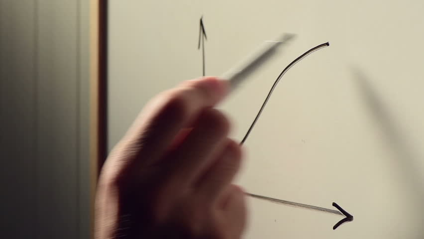 Businessman sketching rising graph on whiteboard during seminar or presentation of positive business results and profit increase | Shutterstock HD Video #28650241