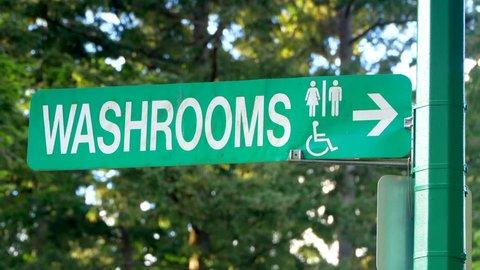 4K Washroom Toilet Sign, Restroom Water Closet Symbol, WC Symbol