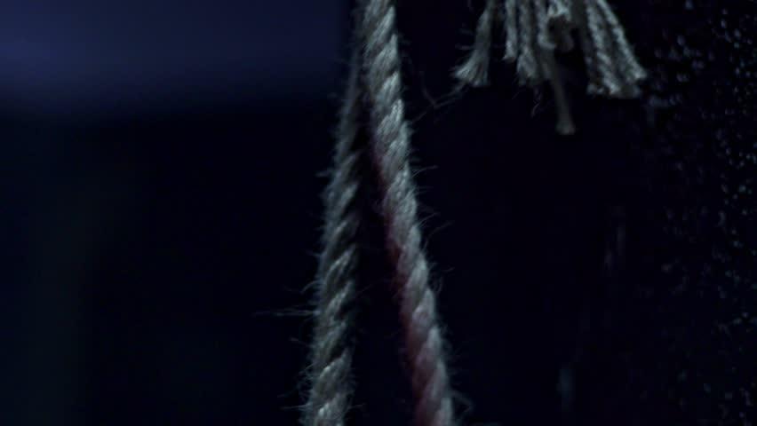 Rope loop on a dark background.