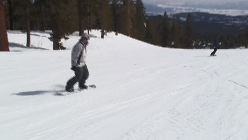 Close-Up View Of Snowboarder Rider