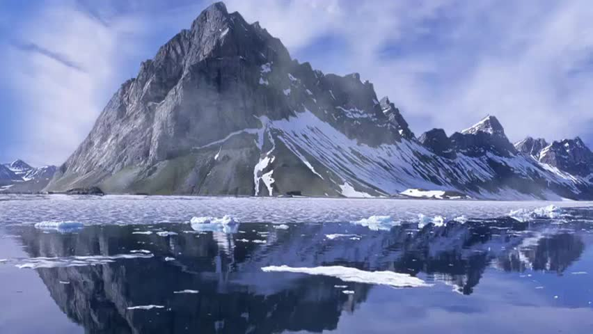 Animated Mountain Scene render