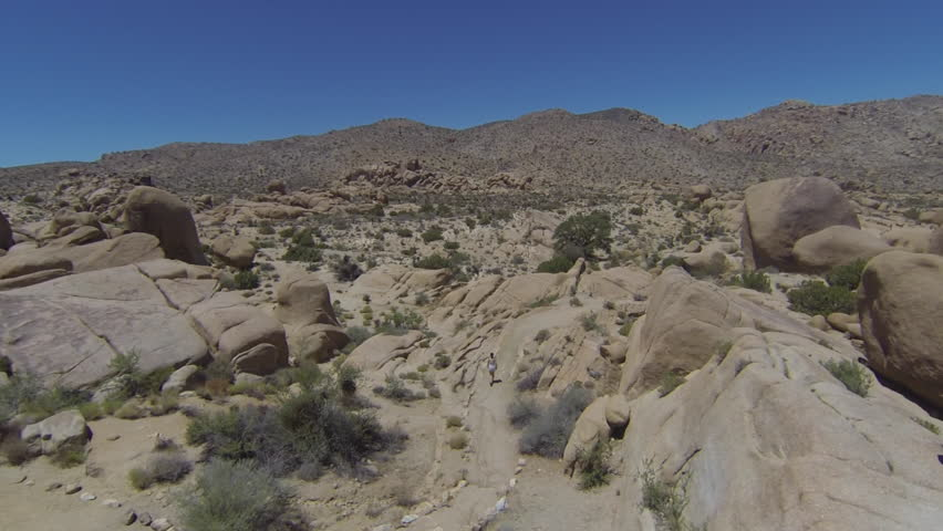 Aerial Drone view of desert at Joshua Tree National Park | Shutterstock HD Video #28807111