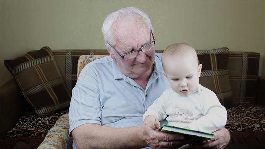 Grandfather and Baby Girl are Stock Footage Video (100% Royalty ...
