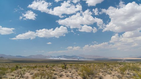 Ivanpah Solar Power Facility in the desert Time Lapse 4k from a 6K source
